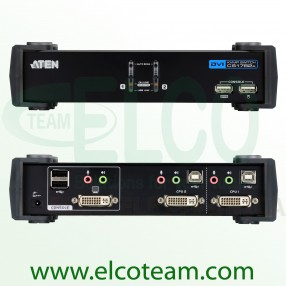 Aten CS1762A Switch KVM DVI a 2 porte con audio e hub USB 2.0