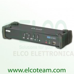 Aten CS1764A Switch KVM DVI a 4 porte con audio e hub USB 2.0