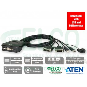 Aten CS22D - KVM switch USB/DVI 2 porte