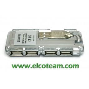Hub USB 2.0 4 porte compatto