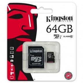 Kingston SDC10G2/64GB microSD 46GB con adattatore