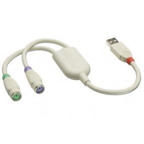 Adattatore USB - PS/2 femmina per tastiera e mouse