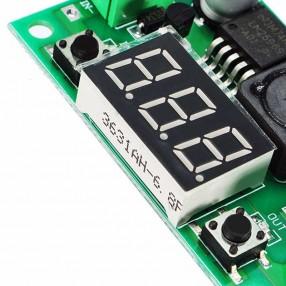 Modulo Convertitore DC-DC Riduttore di Tensione LM2596 con Display - Particolare del Display