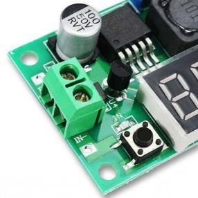 Modulo Convertitore DC-DC Riduttore di Tensione LM2596 con Display - Particolare Morsetto di Ingresso