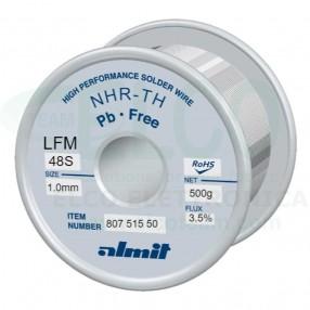 Almit 80751550 Lega di Stagno in Filo SAC305 Flux LO diametro 1mm 500 grammi