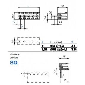 Connettore Maschio passo 5mm STELVIO CPM SQ