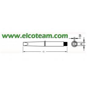 CT6D8 Punta Weller per Stili 100W 220V da 425°C