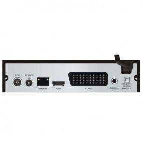 Line@TECH DTT-101 Decoder Digitale Terrestre DVB-T2 H.265 HEVC - Vista Posteriore
