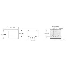 Trasformatore ERA BV030-7596.0 - Dimensioni