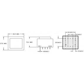 Trasformatore ERA EI30/5 - Dimensioni