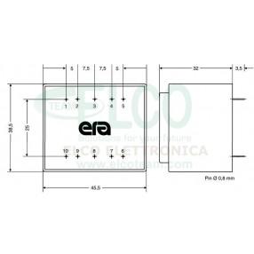 Trasformatore ERA BV042-5061.0 - Dimensioni