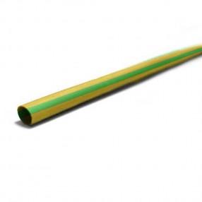 Guaina Termorestringente Ø6,4mm x 1 metro, Giallo Verde, Elematic ET100