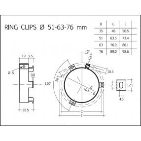 Fascetta di fissaggio condensatori Ø 76mm