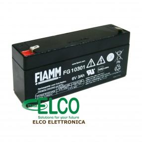 Fiamm FG10301 Batteria Ermetica al piombo 6V 3 Ah