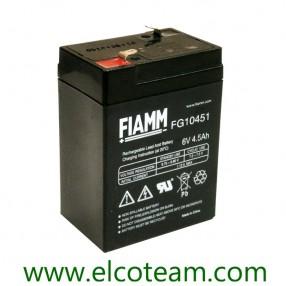 Fiamm FG10451 Batteria Ermetica al piombo 6V 4,5 Ah