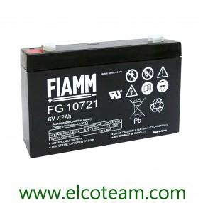 Fiamm FG10721 Batteria ermetica al piombo 6V 7,2 Ah