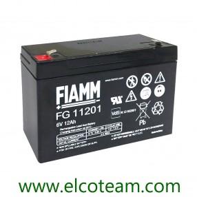 Fiamm FG11201 Batteria ermetica al piombo 6V 12Ah