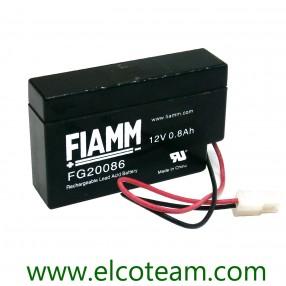 Fiamm FG20086 Batteria ermetica al piombo 12V 0,8Ah