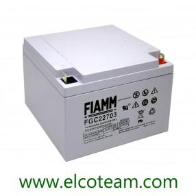 Fiamm FGC22703 Batteria al piombo uso ciclico 12V 27Ah