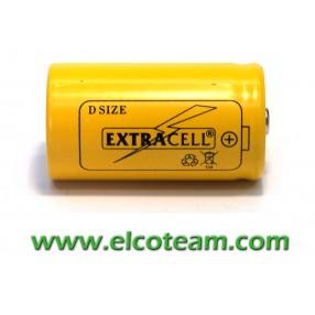 Batteria torcia D 4.4 Ah Ni-Mh bottone