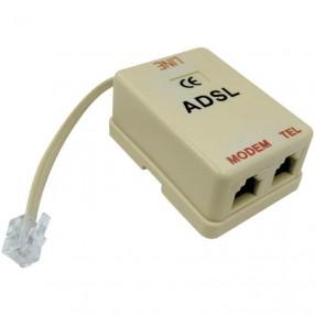 Filtro ADSL con doppia presa di tipo RJ