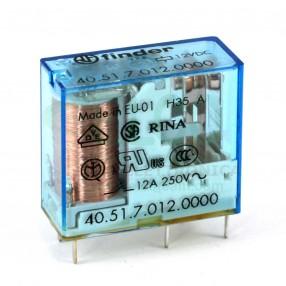 Finder 40.51.7.012.0000 Relè Elettromeccanico Bobina Sensibile 12 VDC