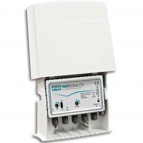 Fracarro MAP2r3+U LTE Amplificatore 1 Ingresso 25dB da palo 3+DAB+UHF(+dc) cod. 223703