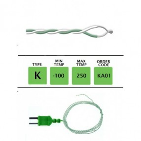 KA01 Termocoppia tipo K sottile 0,3mm lunghezza 1 metro