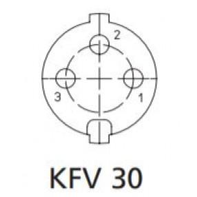 Presa DIN 3 Poli Montaggio a Pannello Lumberg KFV30