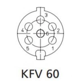 Presa DIN 6 Poli Montaggio a Pannello Lumberg KFV60