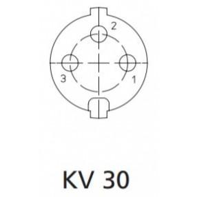 Presa DIN 3 Poli Volante Lumberg KV30