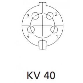 Presa DIN 4 Poli Volante Lumberg KV40