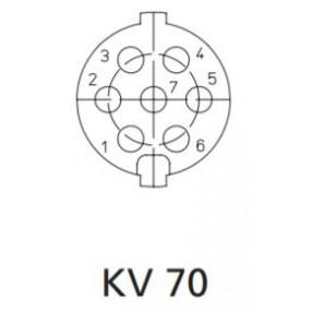 Presa DIN 7 Poli Volante Lumberg KV70
