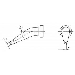 Weller LTHX Punta curva 30° a cacciavite 0,8 x 0,4 mm - T0054442099