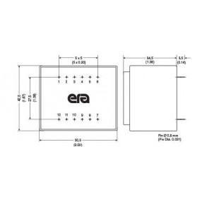 Trasformatore Incapsulato ERA 115V - 18V - 10VA EI48