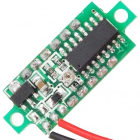 Mini Voltmetro Digitale 2,5 - 30 Volt DC