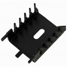 Tecnoal ST-TE28 Dissipatore per TO-220 Anodizzato Nero
