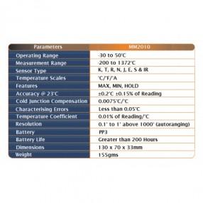 MM2010 Termometro Multifunzione Digitale per Termocoppie - Specifiche
