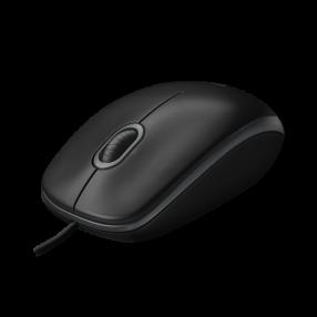 Logitech B100 Mouse Ottico con cavo USB, colore Nero
