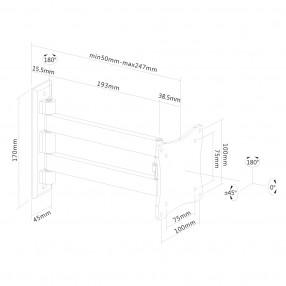 Supporto Orientabile da Parete per TV e Monitor NewStar FPMA-W820BLACK
