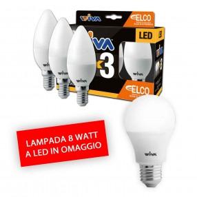 Promo Viva Black WeekEnd - Pack 3 Lampada con Lampada LED 8 Watt Omaggio