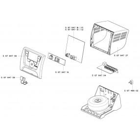 Weller WX1 Unità di Controllo 1 Canale 200 Watt - T0053417399N - Esploso
