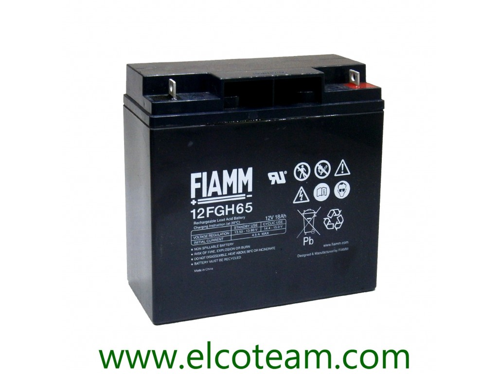 12v 18ah Battery >> Fiamm 12fgh65 Lead Acid 12v 18ah Battery With High Discharge Current