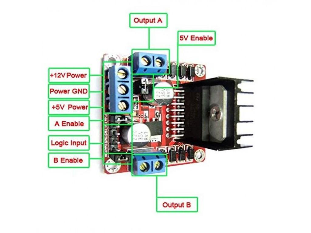 Arduino L298 board for stepper stepper motors