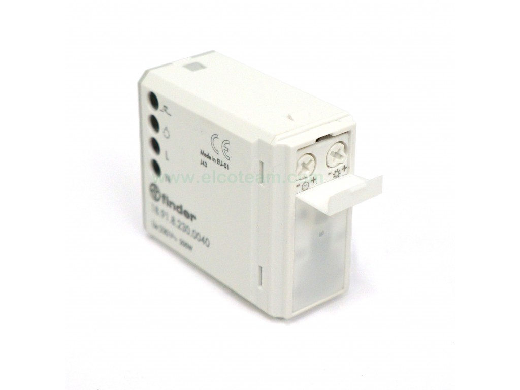 Finder 18 91 8 230 0040 Indoor Motion Detector for White Wall Boxes