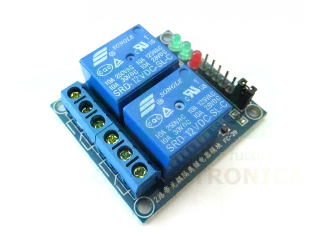 Shield for Arduino with 2 electromechanical relays 12V coil