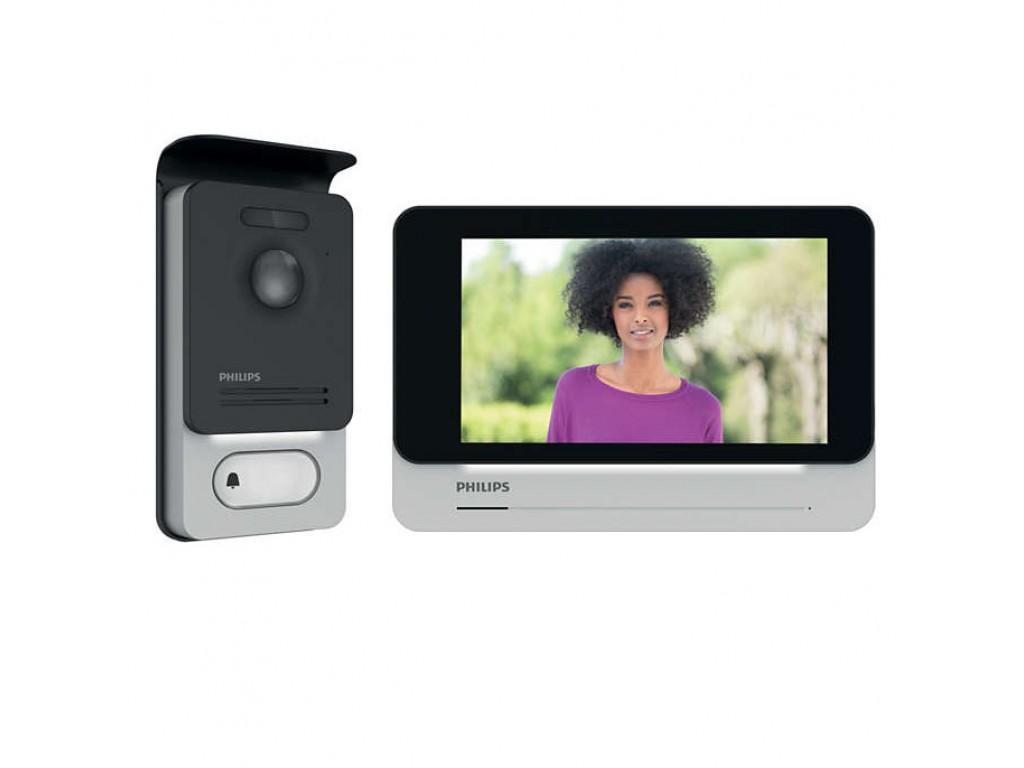 Philips Welcomeye Connect Kit Videocitofono 2 Fili Con Monitor Interno Wi Fi E Pulsantiera Esterna