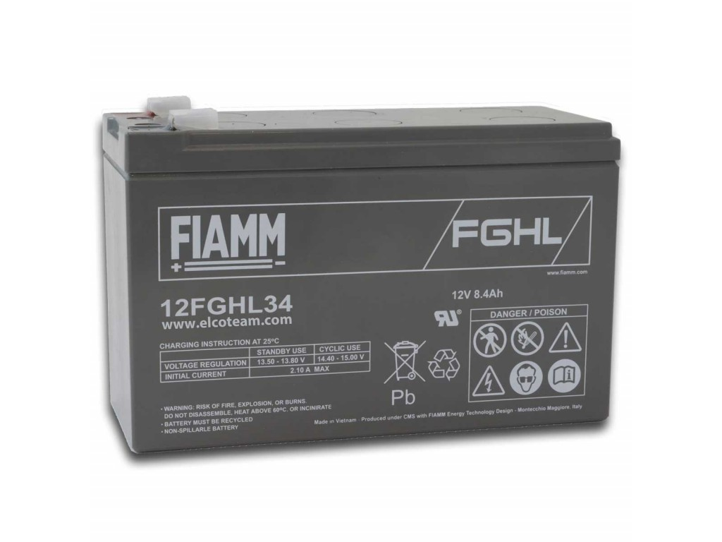 vendita calda volume grande massima qualità Fiamm 12FGHL34 Lead-acid sealed battery 12V 8.4Ah Long Life