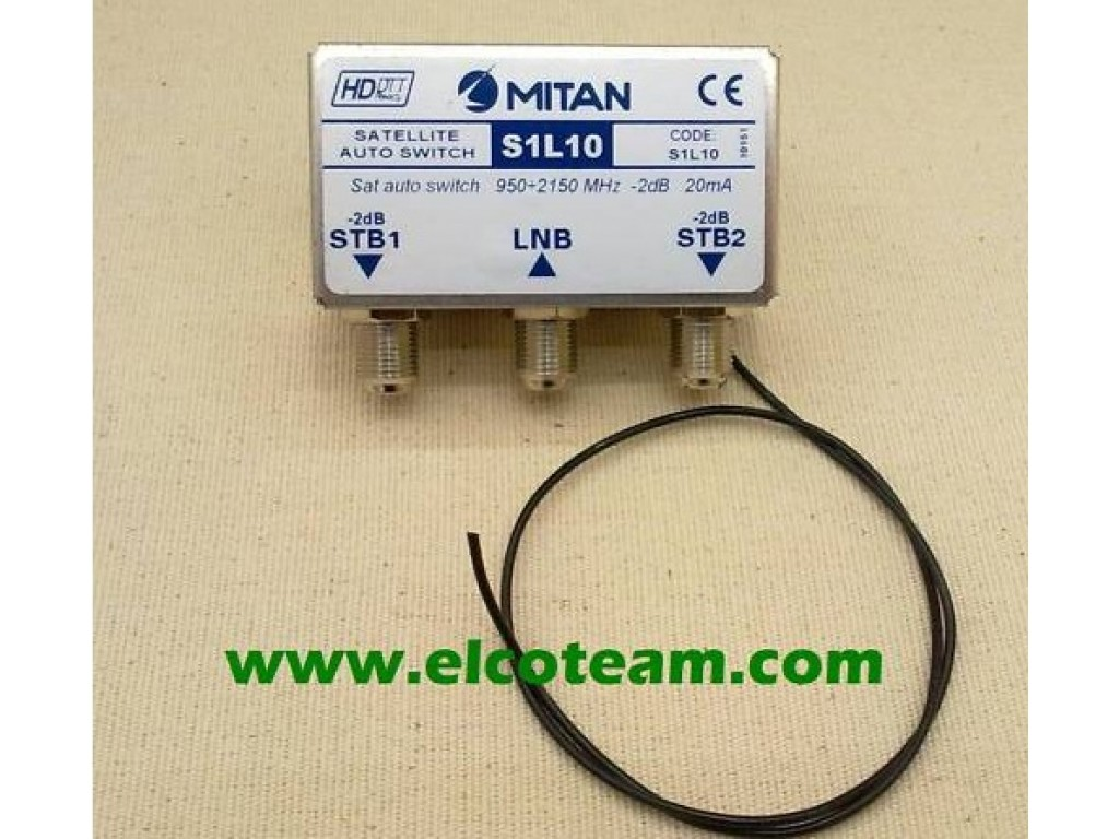COMMUTATORE SWITCH DECODER SKY TIVUSAT TVSAT MITAN S1L10