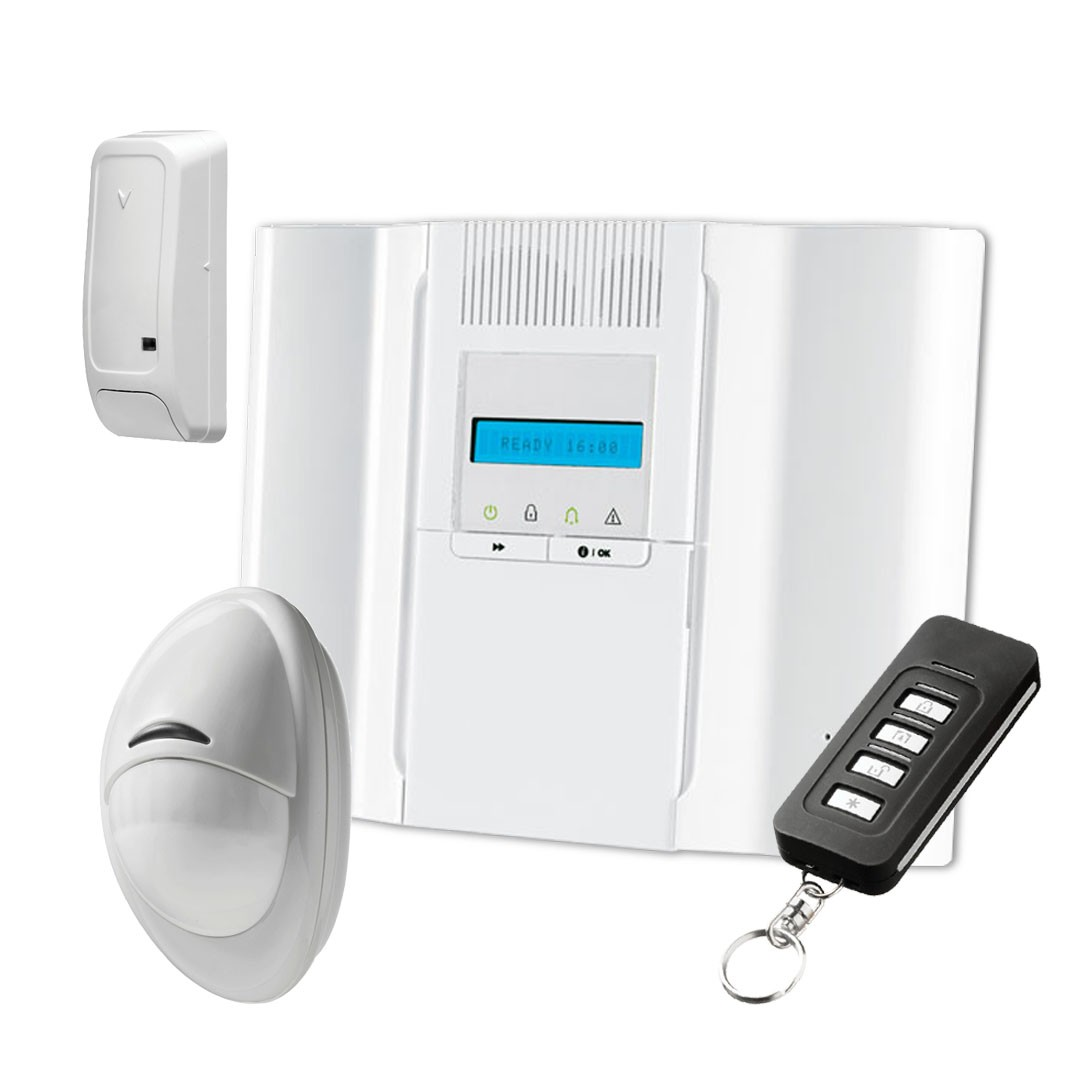 64-zone wireless alarm kit with DSC WP8030 control panel and PowerG  technology